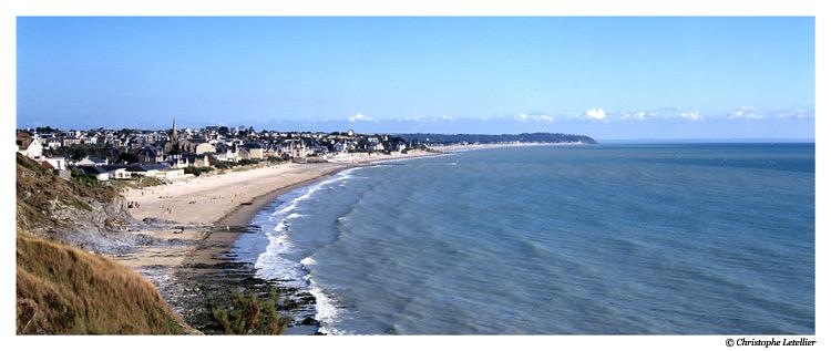 photo panoramique couleur saint pair sur mer la plage. Black Bedroom Furniture Sets. Home Design Ideas